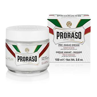 Proraso White Pre-Shave Cream for Sensitive Skin 100ml/3.4oz