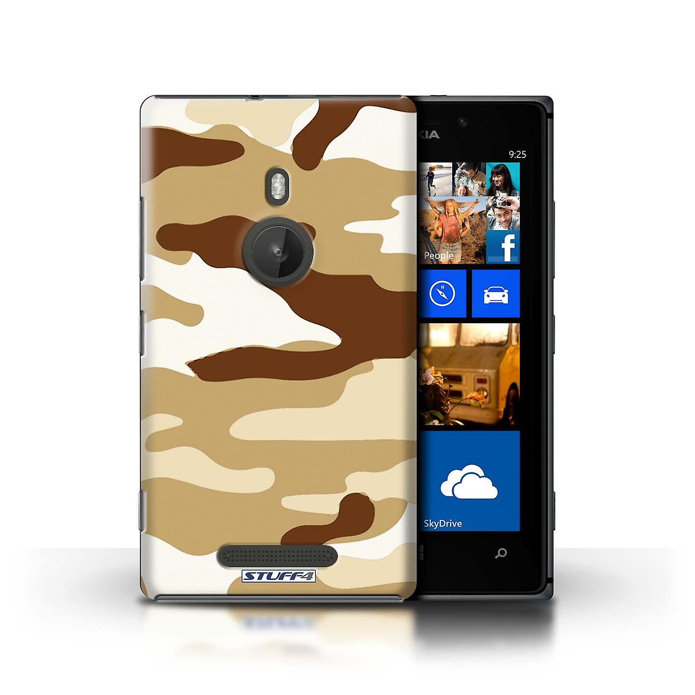 STUFF4 Case/Cover for Nokia Lumia 925/Brown 2/Camouflage Army Navy