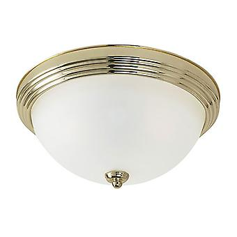 Sea Gull Lighting 79163BLE-02 1 Light Ceiling Flush Mount Polished Brass
