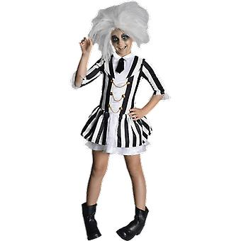 Girls Age 5 - 8 Years Beetlejuice Costume 80s Movie Halloween Fancy Dress