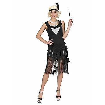 Flapperdress 20s kvinnors kostym Charleston Fringe klänning kostym kvinnors tema Party Carnival
