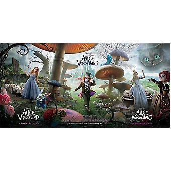 DISNEY'S ALICE IN WONDERLAND Triple Poster Set  - All 3 Styles - (Johnny Depp, Tim Burton) RARE double sided ADVANCE US ONE SHEET (2010) ORIGINAL CINEMA POSTER