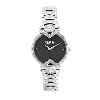 対ヴェルサーチVSPLH0519 女性&アポス;sブラックダイヤルマビヨン腕時計