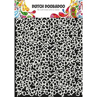 Dutch Doobadoo Mask Stencil - A4 Numbers 3 #470.715.808