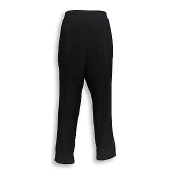 Susan Graver Petite Leggings LP Week-end Premium Stretch Noir A346395
