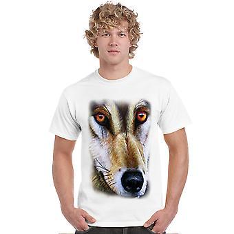 Men's T Shirt Wolf Short Sleeve