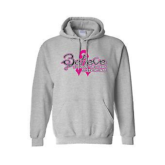 Unisex Hoodie Breast Cancer Awareness Believe