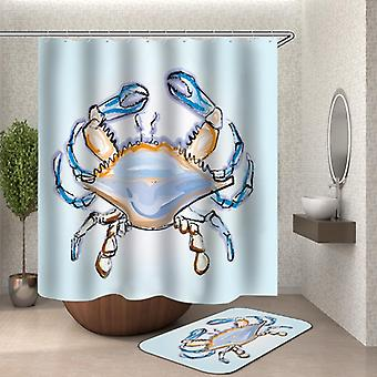 Simply Wholesale Crab Shower Curtain