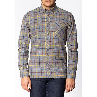 Merc QUARRY, Men's Long Sleeve Flannel Shirt with Large Check Pattern