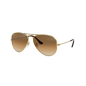 Lunettes de soleil Ray-Ban Aviator RB3025 001/51 Gold Arista/Crystal Brown Gradient