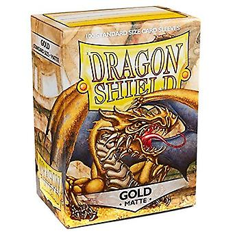 Dragon Shield Matte - Oro 100 ct. en caja (Pack de 10)