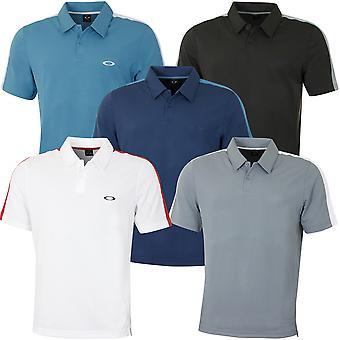 Oakley Herren perforiert solide leichtgeleichte Golf Polo Shirt