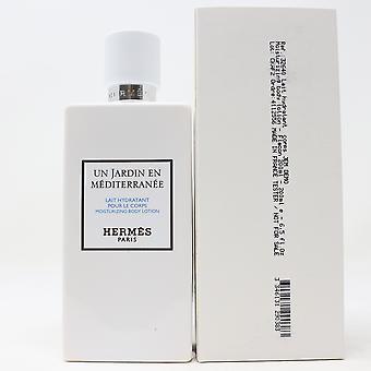 Hermès Un Jardin En Mediterranee Body Lotion 6.5oz/200ml New In White Box