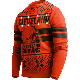 LED Light Up XMAS Knit Sweater - NFL Cleveland Browns