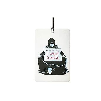 Banksy I Want Change Car Air Freshener