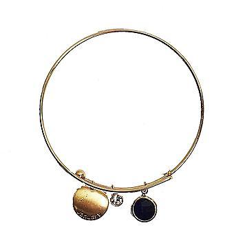 Birthstone arm band armring hängande kristall pläterade smycken