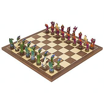 The Fantasy hand painted themed Chess set by Italfama