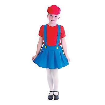 Girls Plumber Girl Fancy Dress Costume (7-8 Years)