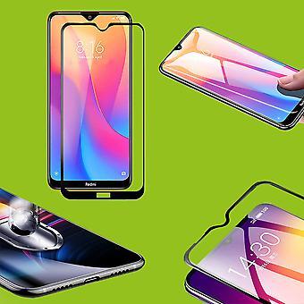 For Xiaomi Redmi note 8 Pro 2x 9D Premium 0,3 mm H9 hård glas sort folie beskyttende sag ny