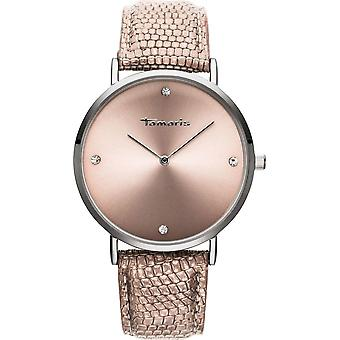 Tamaris - Wristwatch - Berit - DAU 40mm - Silver - Ladies - TW070 - Silver Pink
