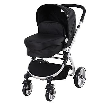 HOMCOM Baby Kid 3-in-1 Travel Versatile Stroller Infant Car Seat Transfer- Black