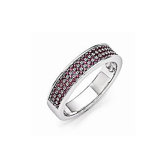 925 Sterling Silver and CZ Cubic Zirconia Simulated Diamond Brilliant Embers Ring Size 7 Jewelry Gifts for Women