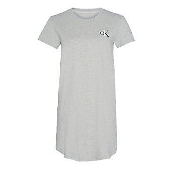 كالفن كلاين CK واحد صالة قصيرة الأكمام قميص ليلي - رمادي هيذر