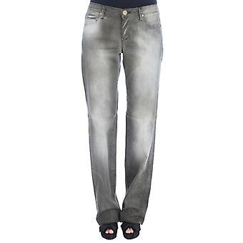 Ermanno Scervino Gray Cotton Blend Loose Fit Boyfriend Jeans