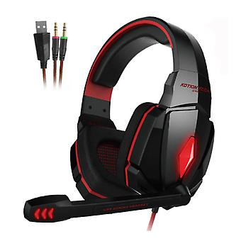 Kotion Each EACH G4000 Stereo Gaming Headset Headset Headphones with Microphone Red