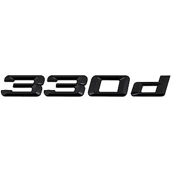 Gloss Black BMW 330d Car Badge Emblem Model Numbers Letters For 3 Series E36 E46 E90 E91 E92 E93 F30 F31 F34 G20
