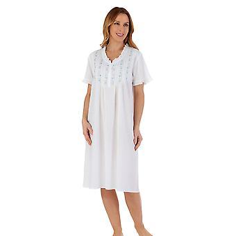 Slenderella ND55251 Women's Cotton Geborduurde Nightdress
