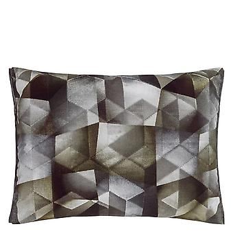 Designers Guild Maurier Geometric Cushion In Graphite Grey