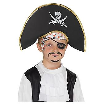 Jongens Piraat kapitein Hat Fancy Dress accessoire