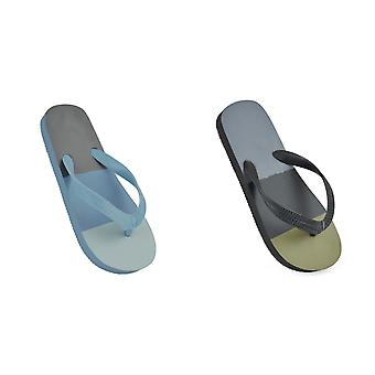 Sandrocks Childrens/Kids Block Stripe Flip Flops