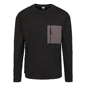 Urban Classics Herren Langarmshirt Boxy Big Contrast Pocket