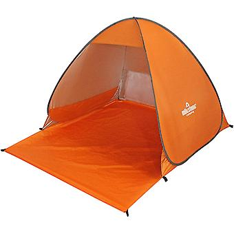 Milestone Pop Up Beach Shelter With UV50+ Protection Orange