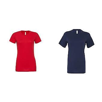 Bella + Tuval Kadınlar / Bayanlar Rahat Jersey Tişört