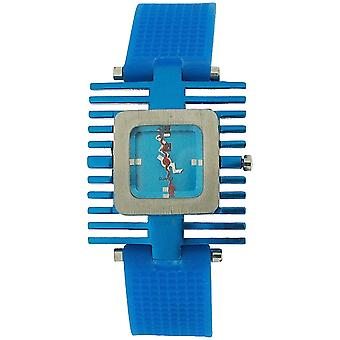 Kool Time Ladies Analogue Spacetime Quad Blue Silicone Strap Ladies Fashion Watch KT12