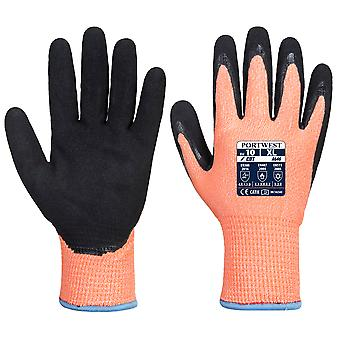 Portwest - 1 Paire Pack Vis-Tex Winter HR Cut Gant Nitrile Hand Protection Glove