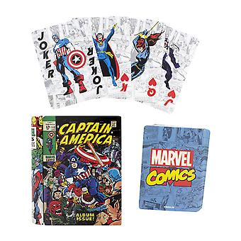 Marvel cómic jugando cartas con estata coleccionable ideal para el blackjack de póquer