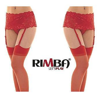 & أبوس؛ ريمبا الملابس الداخلية & أبوس الأحمر واسعة الدانتيل الأزهار حزام الحمالات مع جوارب (R