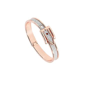 Belle & Beau Rose kullattu solki Glitter Bangle