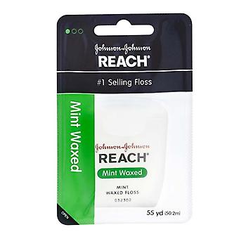 Reach dental waxed floss, mint, 55 yards