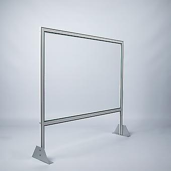 Counter stand virus spit protection 80x80 cm white deluxe protective wall Plexiglas luxury version