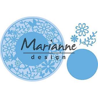 Marianne Design Creatables Snijdrijzen - Bloemframe Rond LR0574 16x18,5 cm