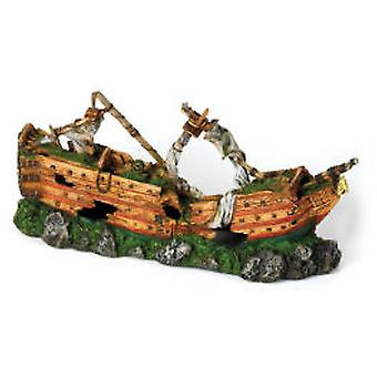 Classic For Pets Giant Sunken Ship 730mm (Fish , Decoration , Ornaments)