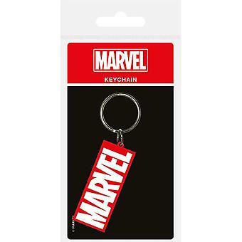 Marvel Logo Gummi Nøglering