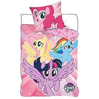 min lille ponni dynetrekk seng sett sengetøy 140x200 +70x90cm