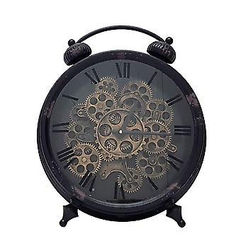 Newton alarme en mouvement rouages horloge debout - noir