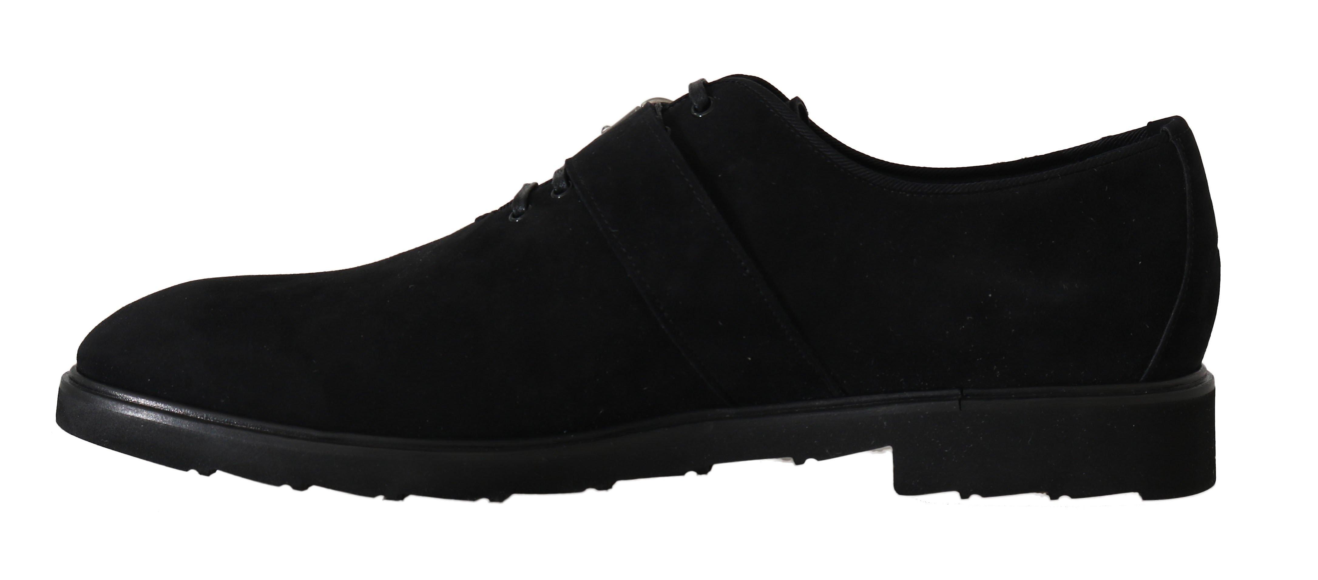 Dolce & Gabbana Black Suede Monkstrap Sukienka Formalne Buty -- Mv20901552